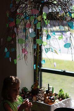 Transform a dead tree into a magical fairy tree.