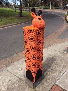 Yarn Bombing at entrance to Melbourne Zoo, Victoria, Australia. Installed 02/09/2016 by the F/b Yard Corner group. (2)