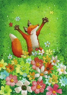 Illustrations, Illustration Art, Fox Pictures, Big Blue Eyes, Ancient Mysteries, Fox Art, Spring Art, Red Fox, Mail Art