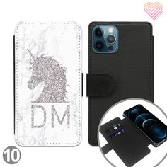 Unicorn Collection Personalised Flip Wallet Phone Case - 10