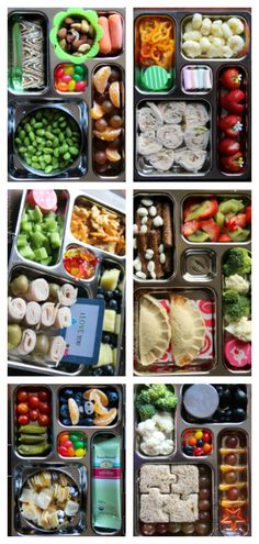 Tons of great family and kid lunch box ideas for a well-balanced meal!