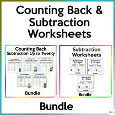 Help your students master the skills of subtraction up to twenty and subtracting two-digit by one-digit, two-digit by two-digit, and three-digit by one-digit.These worksheets are a must-have for Math centers, it is also great for practice, and could be assigned for homework. No prep needed. Printer-... School Resources, Classroom Resources, Math Resources, Math Activities, Classroom Organization, Classroom Management, School Stuff, Back To School, Subtraction Worksheets