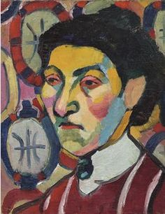 By Sonia Delaunay (1884-1979), 1907, Philomène, oil on canvas. Here see more the orphic influence with cubism in this colorful portrait.