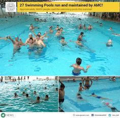 27 Swimming Pools run and maintained by AMC! Approximately 36000 people used the swimming pools this summer!