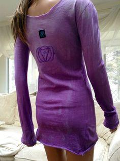 Tie Dye Chakra Yoga Tunic Tissue Tee Organic by MaverickYogaWear, $49.00