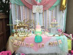 Vintage / Retro mermaid Birthday Party Ideas | Photo 1 of 22 | Catch My Party