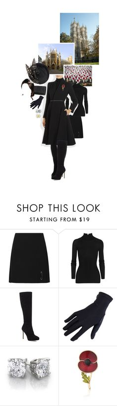 """""""Untitled #2291"""" by duchessq ❤ liked on Polyvore featuring Le Kilt, T By Alexander Wang, Hobbs, Emmy London and Jimmy Choo"""