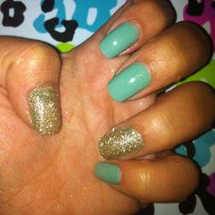Gosh nail glitter on my hands!
