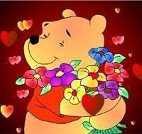 Winnie the Pooh loves Flowers, too!