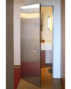 Stunning Metal Bathroom Door Modern Interiors Design Berman