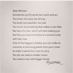 To all women, Please read.