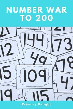 Practice naming and comparing numbers to 200 - perfect for first grade