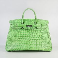 66f04a16af9 Reasonable price Hermes Birkin 40 Pelouse Crocodile skin Silver Hardware  H14036B sale on our hermes birkin