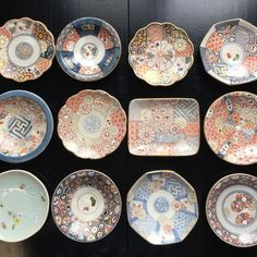 Japanese Porcelain, Japanese Pottery, Japanese Dining Table, Oriental Design, Kitchen Items, Arts And Crafts, Plates, Crafty, Traditional