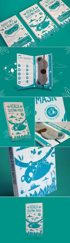 This Adorable Koala Sleeping Mask Will Help You Catch Up on Your Beauty Sleep — The Dieline - Branding & Packaging Design