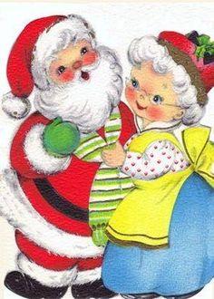 Vintage Christmas card - reminds me of us! Vintage Christmas Images, Retro Christmas, Vintage Holiday, Christmas Pictures, Christmas Art, Christmas Holidays, Xmas, Christmas Graphics, Christmas Clipart