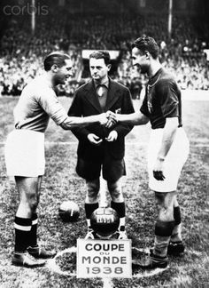 1938 World Cup Final in Paris.  Italy - Hungary (4-2)