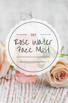 Super simple DIY tutorial for fresh + light rose water face mist