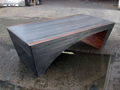 steel and walnut coffee table, bill more