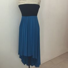DRESS Black and Teal tube top high/low dress Previously loved No stains or tears Priced to sell Dresses High Low