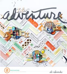 #papercrafting #scrapbook #layout Paige Evans