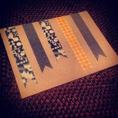 washi tape note cards