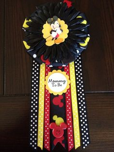 NEW Mickey Mouse Themed Mommy To Be Corsage by AngelinaBellaFina, $22.00
