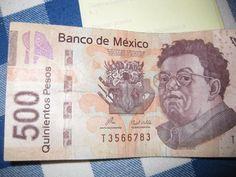 billete de quinientos pesos con Diego Rivera (Banco de México) I HAVE ONE PESO COIN SO TIS IS COOL TAMARA PERIOD 3