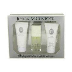 JESSICA Mc CLINTOCK by Jessica McClintock - Gift Set -- 1.7 oz Eau De Parfum Spray + 3 oz Body Loti by Jessica McClintock. $46.50. This product may be prohibited inbound shipment to your destination.. Picture may wrongfully represent. Please read title and description thoroughly.. Brand Name: Jessica McClintock Mfg#: JMGSW3. Shipping Weight: 0.01 lbs. Please refer to SKU# ATR871649 when you inquire.. Utterly romantic and feminine, the Jessica McClintock fragrance is a ...