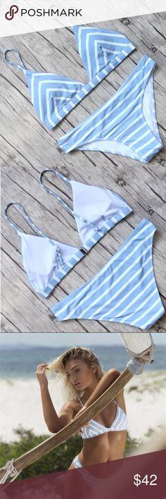 Sky Blue Bikini Set Brand new, true to size Swim Bikinis