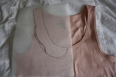 DIY Peter pan collar - easiest one I could find using a tank top.