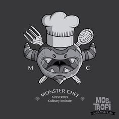 Monster chef #mostropi culinary institute #monster #draw #illustration #tee #design