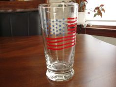 Libbey Signed Patriot Flag High Ball Tumblers! by BucketListGarnishes on Etsy