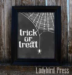 Halloween Decoration Print - Trick or Treat - Instant Download - Printable