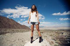 fashiontoast   04/16/2014 solar Reformation Limonium top, Citizens of Humanity cutoffs, Isabel Marant Milla boots.