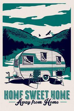 vintage camping poster - Pesquisa Google