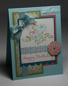 Stampin Up, Card, Fresh Vintage stamp set, Everyday Enchantment DSP