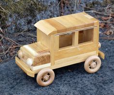 Wooden Toy Car ModelT Ford Vintage Style by Aroswoodcrafts on Etsy, $10.99