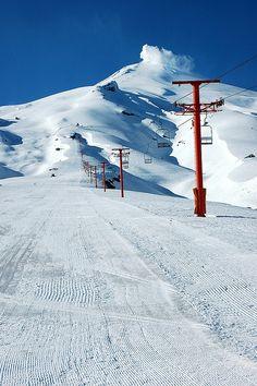 Centro de Ski Pucón, Villarica, Región de Los Lagos, Chile