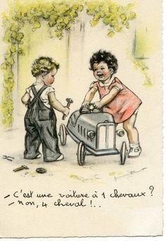 Image detail for -BOURET Germaine - Cest une voiture à 1 chevaux - Non, 4 cheval ...