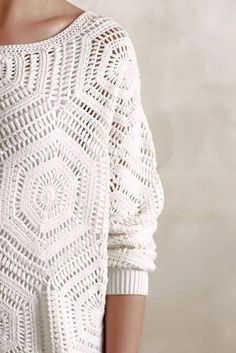 Free Crochet Pattern and Instructions for Anthropology Pullover - Picture Based…