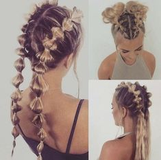 Pin by Evelyn Stelfox-Ventimiglia on Hair & Hair-dos in 2019 « Beauty MY Cute Hairstyles, Braided Hairstyles, Hairstyle Ideas, Wedge Hairstyles, Casual Hairstyles, Barbie Hairstyle, Hairstyle Names, Softball Hairstyles, Going Out Hairstyles
