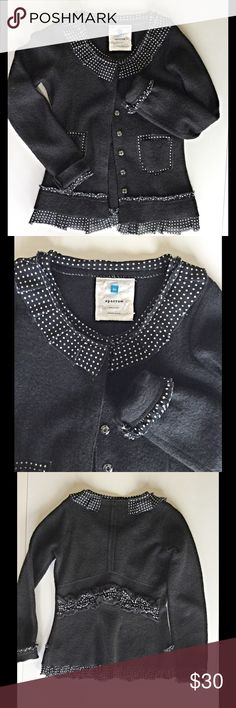 Very cute and classy Anthropologie Sparrow sweater Awesome condition these sweater is a perfect addition to your closet. Snap buttons and cute detail on bottom and back. Anthropologie Sweaters Cardigans