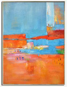 Large Painting Original Art Large Canvas Art. by CelineZiangArt