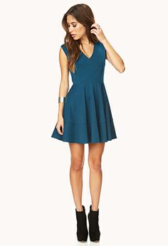 Sophisticated Fit & Flare Dress | FOREVER 21 - 2000140193