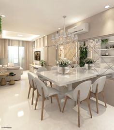 Cute modern kitchen design on a budget 38 Interior Design Kitchen, Interior Design Living Room, Living Room Decor, Best Living Room Design, Interior Livingroom, Elegant Dining Room, Dining Room Design, Dining Rooms, Dining Table