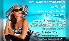 Local special...Book online www.thewaxden.com #summer #nutley #nutleynj #poolparty #brazilianwax 562 Kingsland Street Nutley NJ. Please share!