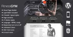 FitnessGYM - WordPress Sport/Fitness Theme by madza FitnessGYM theme is WordPress sport theme aimed for fitness, gym or any other sport related websites. Fitness GYM theme is clean,