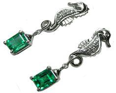 Genuine Muzo Emerald earrings