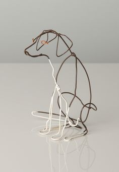 alexander calder wire sculpture Its hard to recognize which dog species he sculptured however, its still cute.